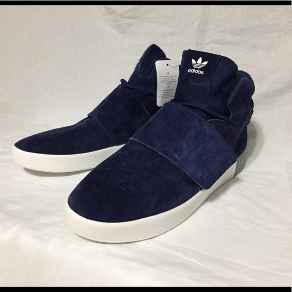 Adidas tubulare invasore azzurre, scarpe poshmark cinghia